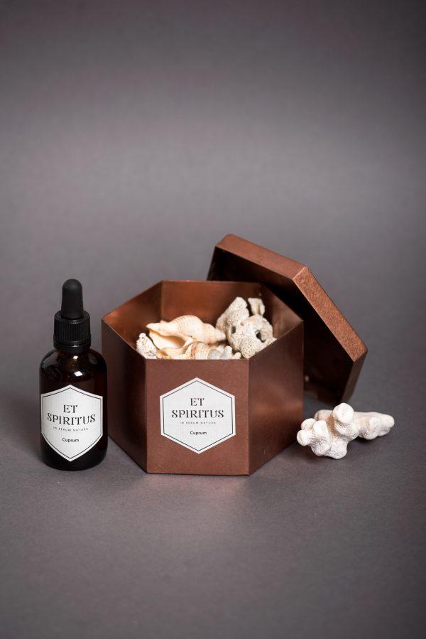 Медный гексагон с кораллами аромат CUPRUM